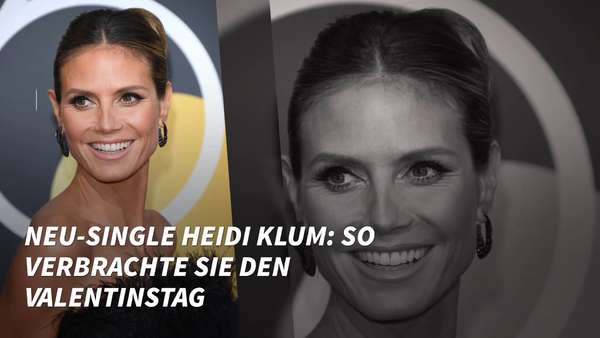 Video: Neu-Single Heidi Klum: So verbrachte sie den Valentinstag