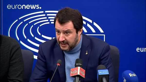 News video: Lega Nord Boss probt Regierung auf EP PK