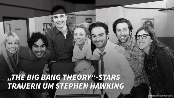 "News video: ""The Big Bang Theory""-Stars trauern um Stephen Hawking"