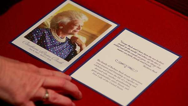 News video: Abschied von Barbara Bush