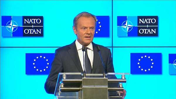 News video: EU-Ratspräsident Donald Tusk fordert Respekt von den USA