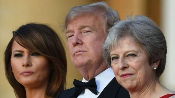 News video: Theresa May lädt Donald Trump zum Gala-Dinner und er droht