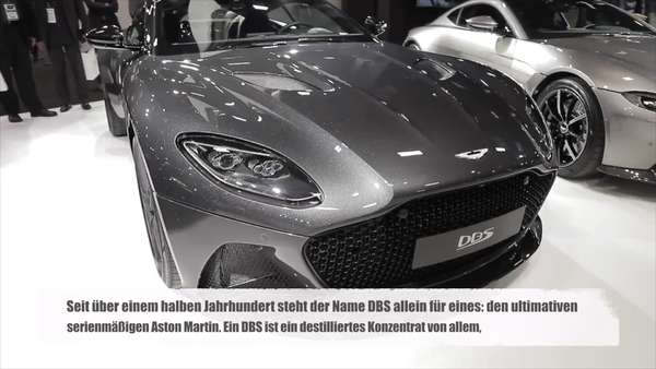 News video: Aston Martin DBS Überblick auf dem Mondial de l'Automobile Paris 2018