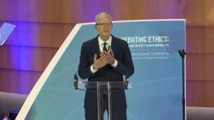News video: Apple-Chef Tim Cook lobt EU-Datenschutzpolitik