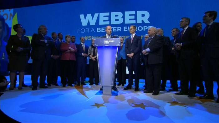 News video: EVP-Spitzenkandidat Weber: