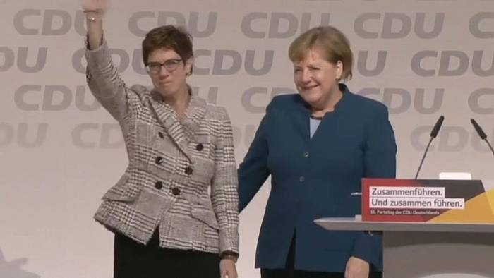 News video: Kramp-Karrenbauer neue CDU-Chefin