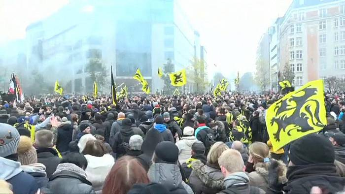 News video: Ausschreitungen bei rechter Demonstration in Brüssel