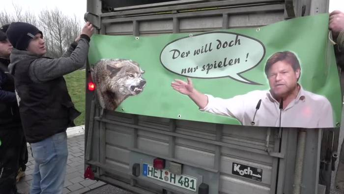 News video: Demonstration gegen den Wolf in Schleswig-Holstein
