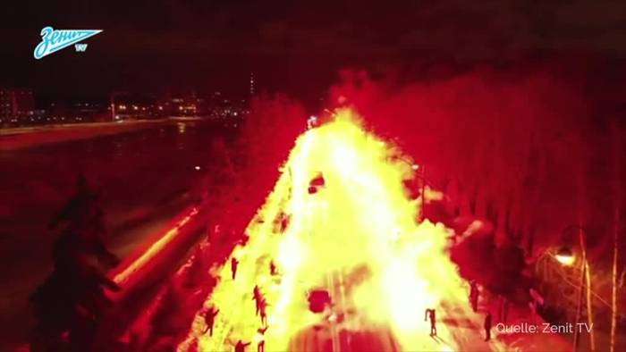 News video: Fans bereiten Zenit St. Petersburg gigantische Feuershow
