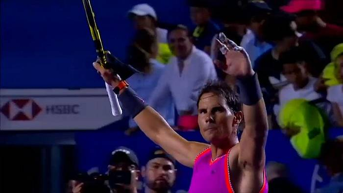Video: Rafael Nadal siegt in Acapulco