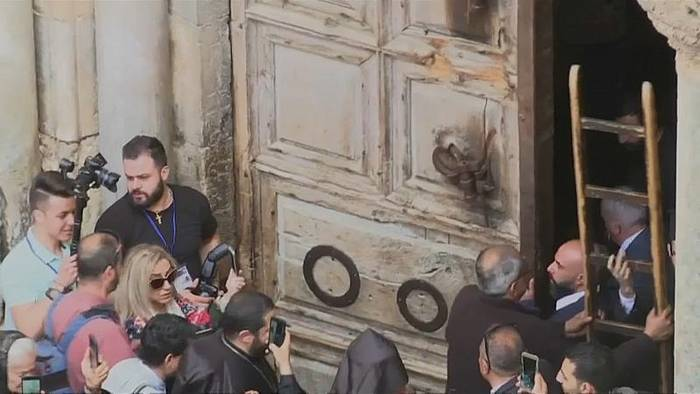 News video: Orthodoxer Karsamstag in Jerusalem