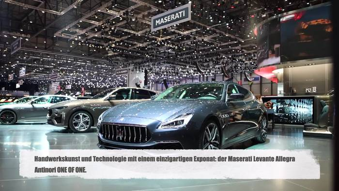 Video: Maserati Levante Allegra Antinori ONE OF ONE in Genf vorgestellt