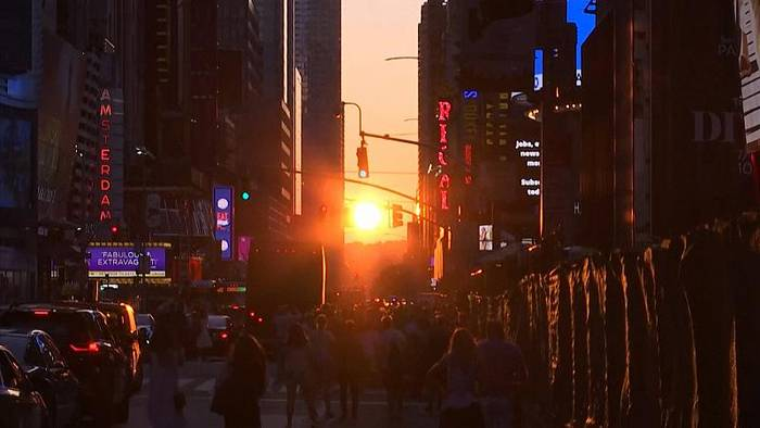 Video: Manhattanhenge - Sonnenspektakel in New York