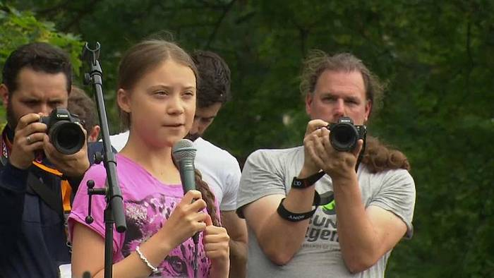 News video: Greta Thunberg bei Fridays for Future in Berlin