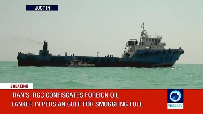News video: 700.000 Liter Öl: Iran setzt irakischen Tanker fest