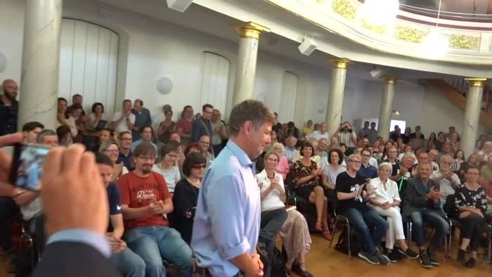 News video: Habeck zum Ost-Wahlkampf: Zusammenhalt statt Spaltung