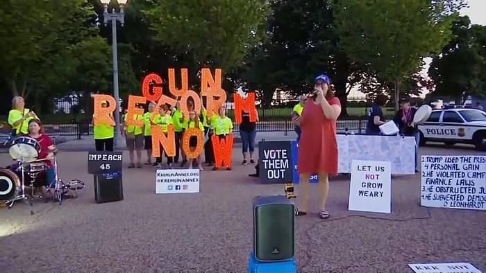 Video: Washington: Mahnwache für die Toten von Dayton und El Paso