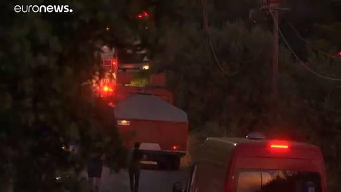 Video: 57 Waldbrände seit Samstag - Feuer bei Athen gelöscht