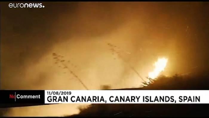 Video: Waldbrand auf Gran Canaria wütet weiter