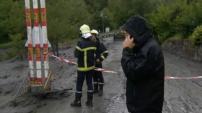 News video: Gewitter löst im Wallis Schlammlawine aus