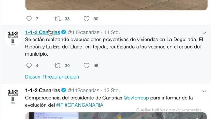 Video: Beliebte Urlaubsinsel: Waldbrand auf Gran Canaria