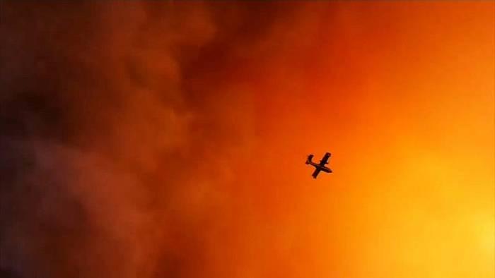 Video: Heftige Waldbrände wüten in Griechenland
