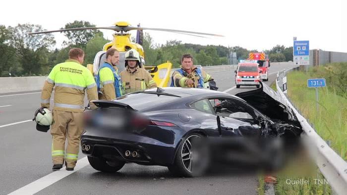 News video: Sieben Menschen bei Unfall auf der Autobahn 7 verletzt