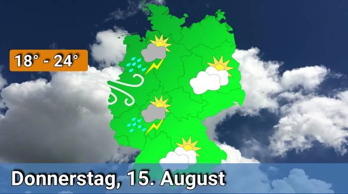 News video: Deutschland-Wetter: Vorhersage 15. bis 18. August 2019