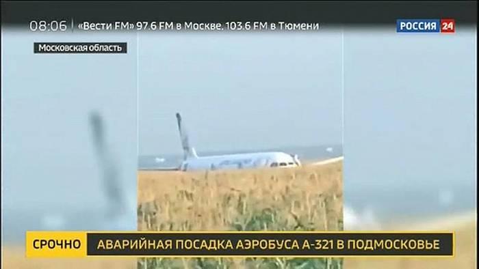 Video: Möwen im Triebwerk: Russisches Flugzeug landet im Maisfeld