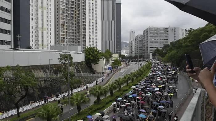 News video: Proteste in Hongkong: Wieder Zehntausende auf den Straßen