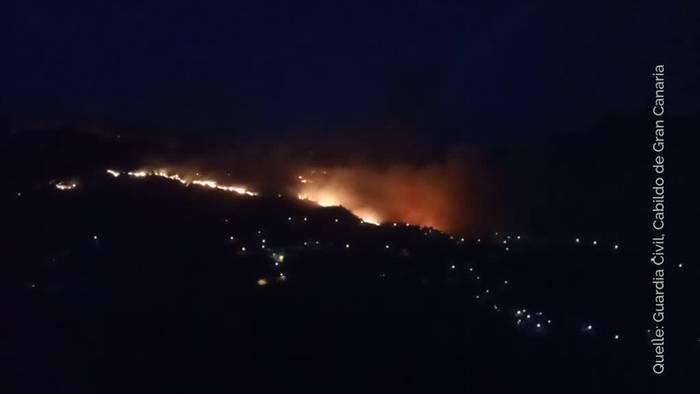 Video: Gran Canaria: Waldbrand außer Kontrolle