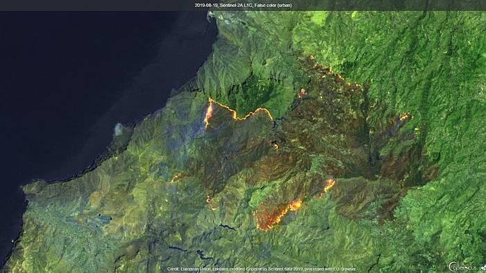 Video: Gran Canaria: Waldbrand lässt leicht nach