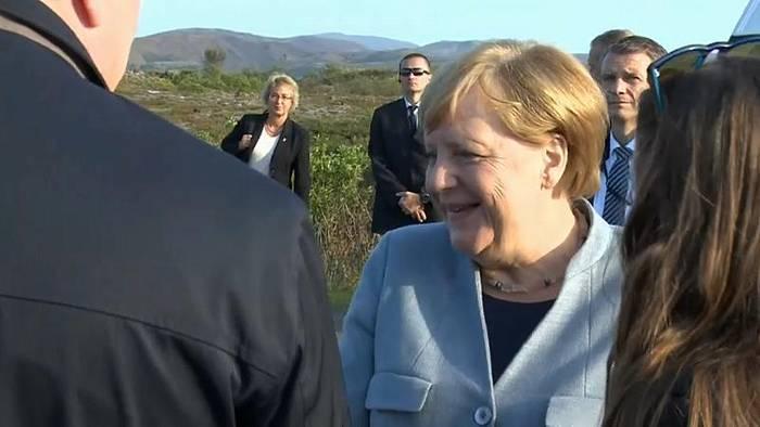 Video: Merkel gutgelaunt in Island