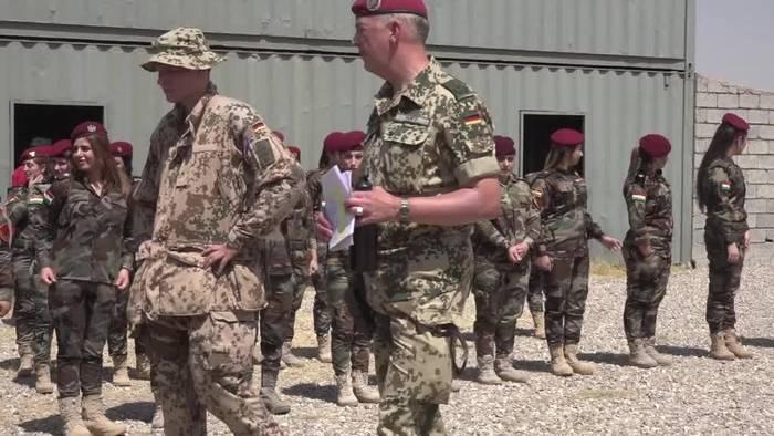 News video: Soldaten, IS-Opfer und ein Mandat: Kramp-Karrenbauer im Irak
