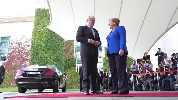 News video: Merkel und Johnson gesprächsbereit - aber hart beim Brexit
