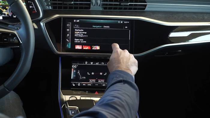 News video: Die neue Audi A6 Limousine Infotainment system