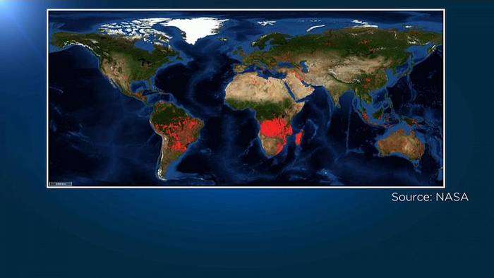 News video: Nicht nur in Brasilien: Starker Anstieg der Waldbrände