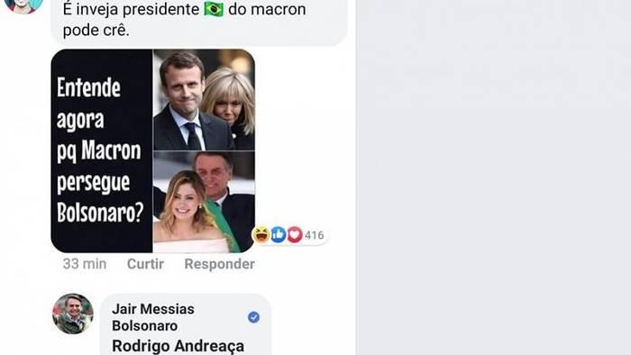 Video: Internet-Zoff zwischen Bolsonaro und Macron