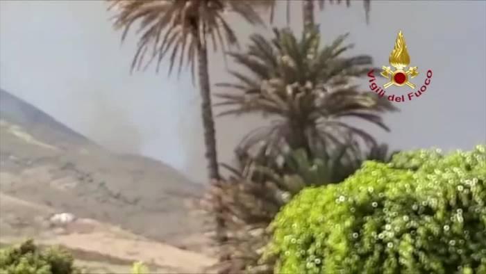 News video: Wieder heftiger Ausbruch am Vulkan Stromboli