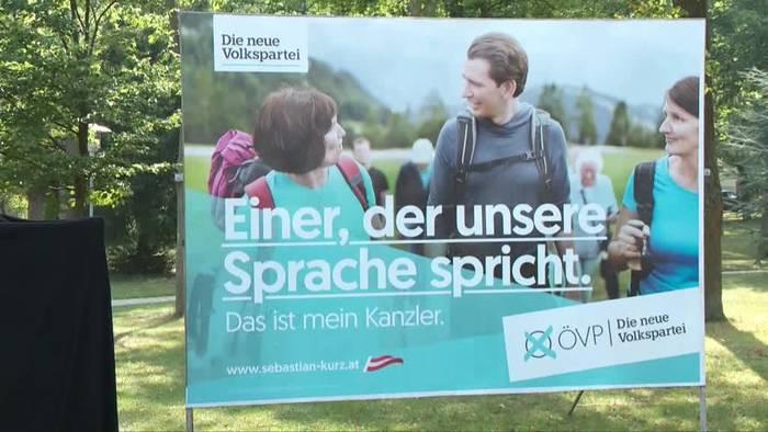 Video: Vor der Wahl in Österreich: Gleicher Slogan von ÖVP und FPÖ