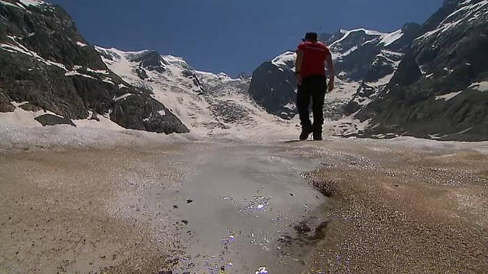 News video: Schweizer Gletscher an Saharastaub erkrankt