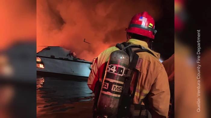 Video: Viele Tote bei Bootsfeuer vor kalifornischer Küste