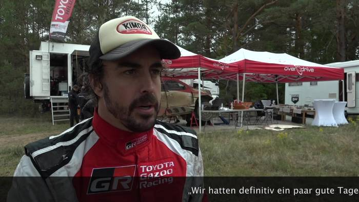 Video: TOYOTA GAZOO Renntest in Polen - Interview Fernando Alonso