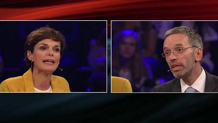 Video: Vor Österreich-Wahl: Erster Schlagabtausch im TV-Duell