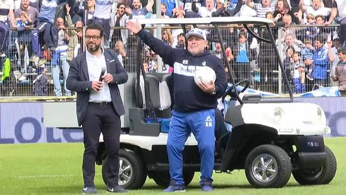 News video: Diego Maradona feiert Comeback als Trainer