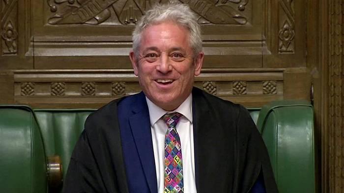 News video: Parlamentssprecher John Bercow (56) kündigt Rücktritt an