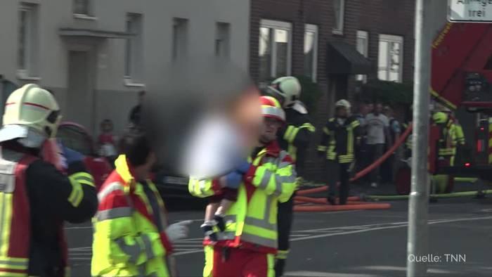 News video: Gelsenkirchen: Sieben schwer verletzte Kinder bei Brand