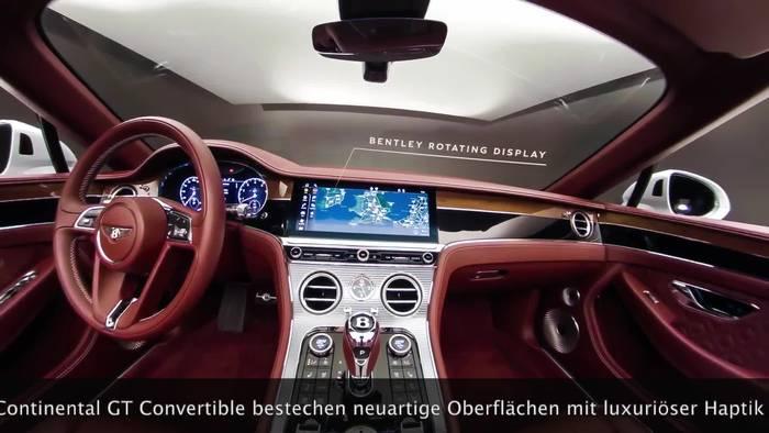 News video: Der Bentley Continental GT Convertible - 360 Interieur
