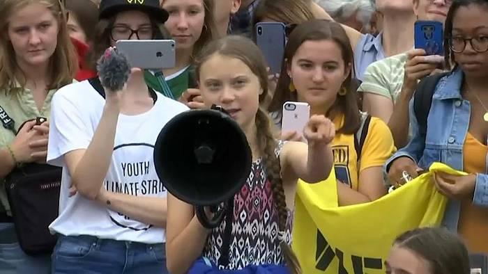 News video: Greta Thunberg in Washington: