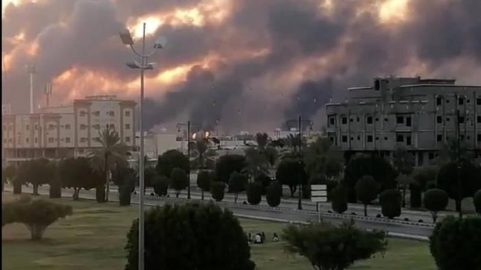 Video: Huthi-Rebellen aus dem Jemen bekennen sich zu Angriff auf saudische Ölgesellschaft Aramco